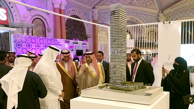 Golden Tower participation at the American Express World Luxury Expo 2017 at the Ritz-Carlton Riyadh